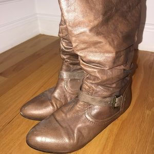 Steve Madden Light Brown Riding Boots with Buckle